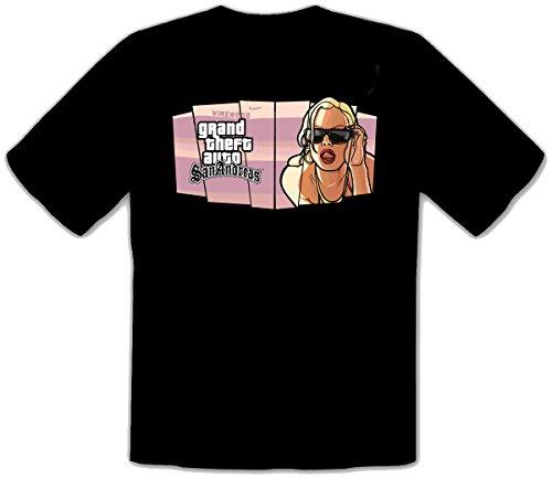 GTA V GTA 5 Grand Theft Auto 5 Rockstar San-Andreas Fun T-Shirt -127 (L)