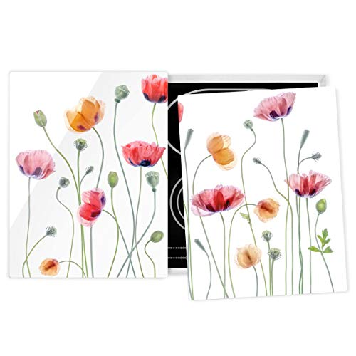 Bilderwelten Herdabdeckplatte Glas - Klatschmohn Party - 52 x 80cm