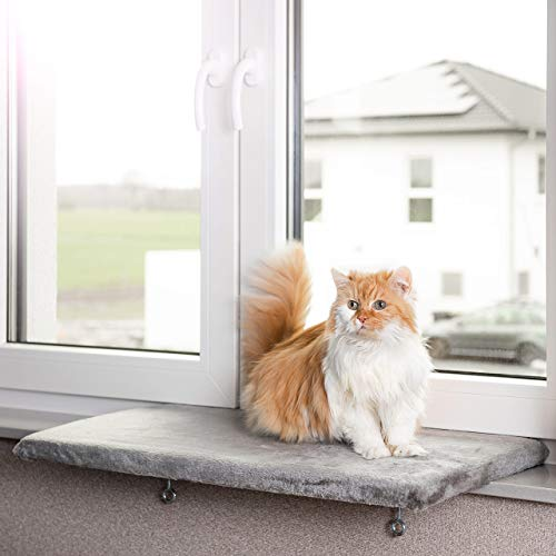 CanadianCat Company  | Snuggly Place | Large | Hellgrau | gepolsterte Liege-...