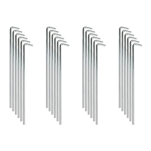 Quantio Zeltheringe aus verzinktem Stahl - 23 x 2,5 cm (HxB) - für den...