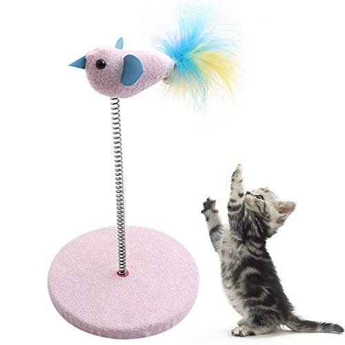 N/X Lustige Katzenspielzeug Interaktive Frühlingsfeder Vogel Puppe...