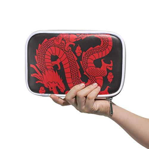 Federmäppchen mit traditionellem chinesischem Drachen mit Silhouetten-Design,...