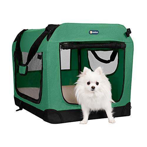 Veehoo Hundekäfig, faltbar, weich, 3-Türer für Hundekäfig-Training, 5 x...