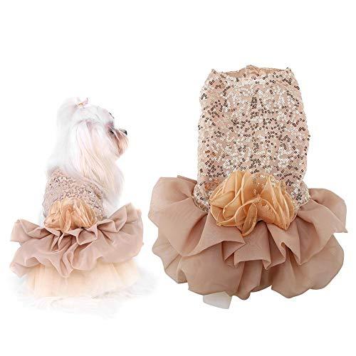 Pssopp Katzenkleid Hundekleid Bling Dog Kleid Komfortabler Hund Prinzessin...