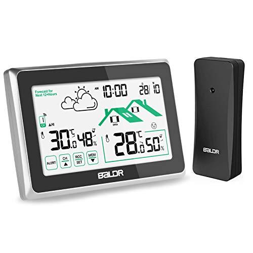 Osaloe Wetterstation Funk mit Außensensor, Digitales Thermometer Hygrometer mit...