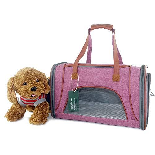 Qiming Tierträger Leichte, tragbare Pet Carrier Folding Stoff Pet Bag Mesh...