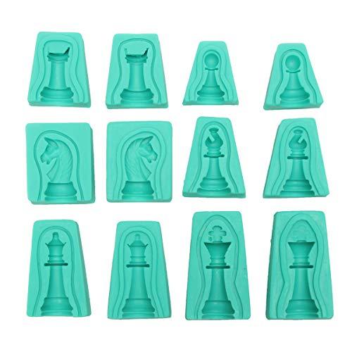 DyNamic 6 Sätze 3D Silikon Fondant Kuchen International Schachform Schokolade...