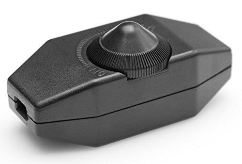 LED Dimmer, 1-60 Watt stufenlos dimmen (Schnurdimmer Drehdimmer) dimmbare LED,...