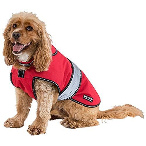 Trespass Hundejacke Duke mit herausnehmbarer Fleecejacke, wetterfest (M) (Rot)