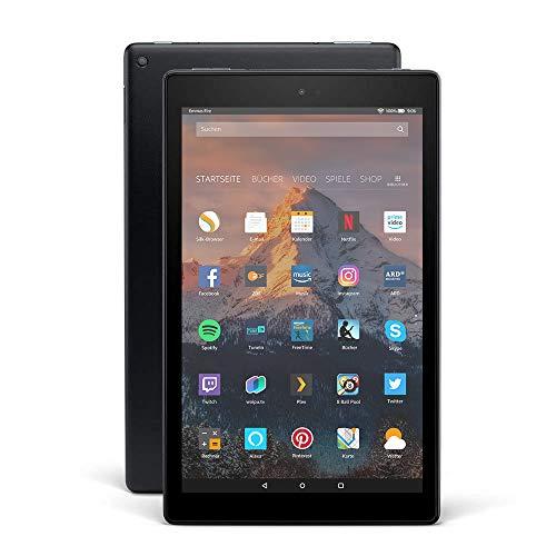 Fire HD 10-Tablet, 1080p Full HD-Display, 32 GB, Schwarz, Mit Werbung (vorherige...