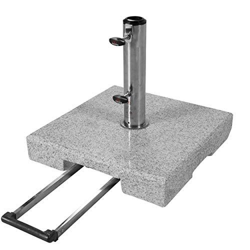 Doppler Active Trolley Granitsockel – 40 kg mit ausziehbarem Zuggriff und...