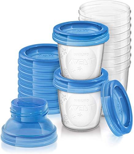 Philips Avent Aufbewahrungsbecher für Muttermilch, 10er Pack (10x 180 ml),...