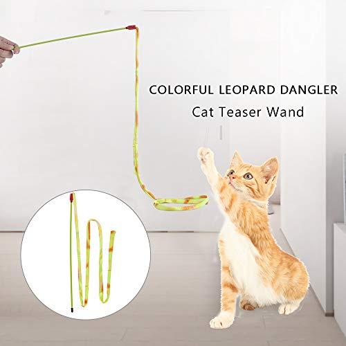 Fesjoy katzenspielzeug Set Interaktives Spielzeug Bunter Leopard Dangler...