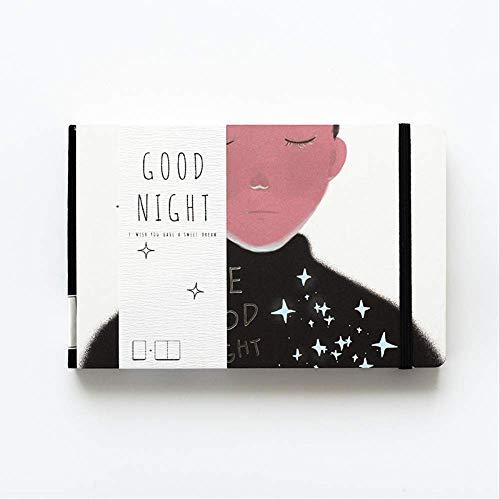 Horizontale Open Naked Back Text Art frischen Notizblock Creative Notebook Gute...