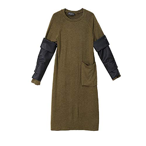 YNPM Temperament Fashion Herbst und Winter Mädchen Kleid abziehbar PU Leder...