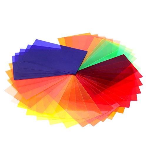 Neewer Universal 35 Stück Farbfolien Blitz Gele farbige Beleuchtungs Gele Farbe...