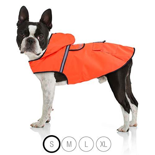 Bella & Balu Hunderegenmantel – Wasserdichter Hundemantel mit Kapuze und...
