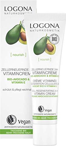 LOGONA Naturkosmetik Zellerneuernde 24h Vitamincreme, Schützt die Haut vor...