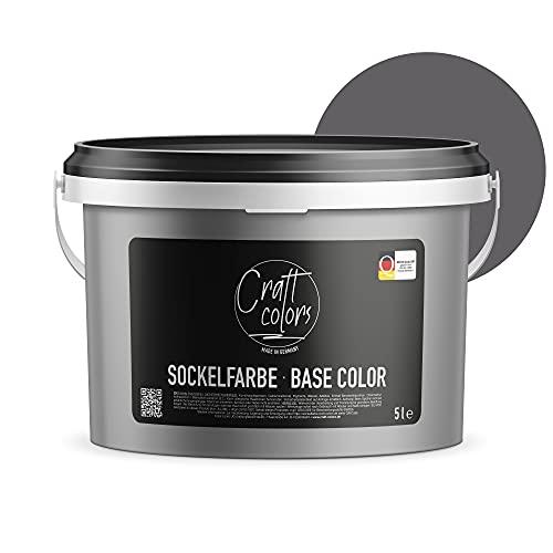 Sockelfarbe 5L Schiefer | hochwertige Farbe für Beton, Mauerwerk, Kellerwand,...