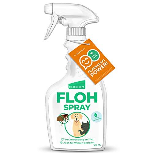 Silberkraft Flohmittel, Floh-Spray 500 ml - Flohspray für Hund, Katze und...
