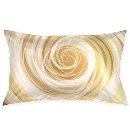 Royfox Kissenbezug Gold Whirlpool Hintergrund Premium Soft Standard Kissenbezug...