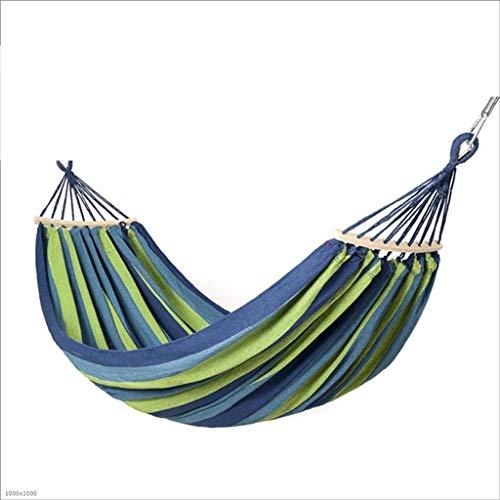 ZHUYUE Sicher und komfortabel Cotton Doppel Hammock Swing - Indoor Outdoor 2...