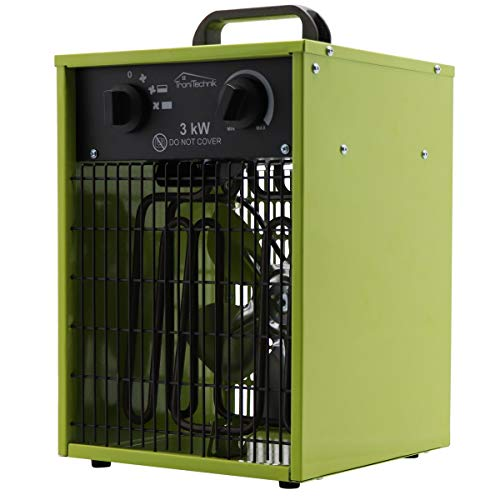 Tronitechnik Elektrische Industrieheizung mit 2 Leistungsstufen 1500/3000 Watt...