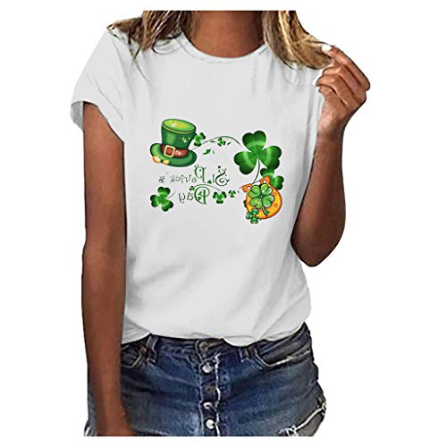 BURFLY Frauen St. Patricks Day Green O-Neck Kurzarm Tank Top T-Shirt Bluse...