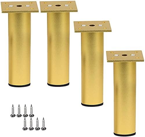 4x Aluminiumlegierung Möbelbeine, einstellbare Höhe Küchenfüße,...