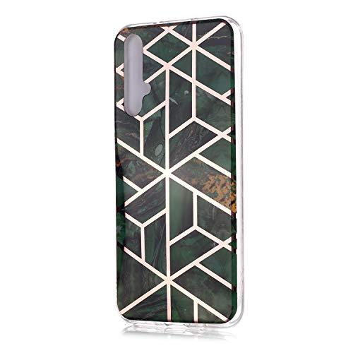 Thoankj Huawei Nova 5T Hülle, Marmor, Honor 20, stoßfest, weich, flexibel, TPU...