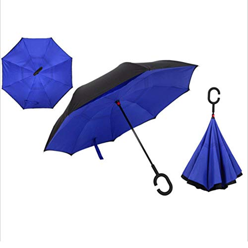KETONG Winddichtes Reverse-Folding Double Layer Inverted Regenschirm...