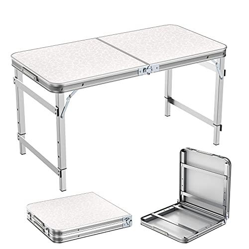 Campingtisch Klapptisch 1,2m Tragbare Einstellbare Höhe Picknick Esstisch...