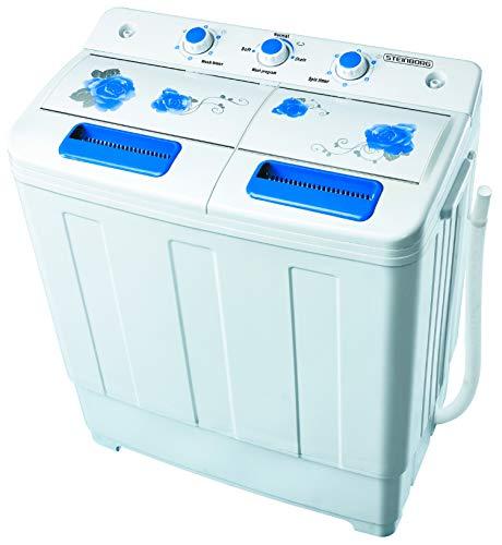 2in1 Mini Waschmaschine mit Schleuder | Waschautomat bis 6 KG | Schleuderkammer...
