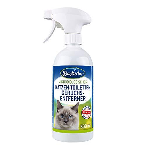 Bactador Katzentoiletten Geruchsentferner Spray 500ml - Biologischer...