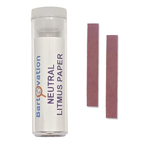 Neutrales Lackmuspapier [Fläschchen mit 100 Teststreifen] für Säure- /...