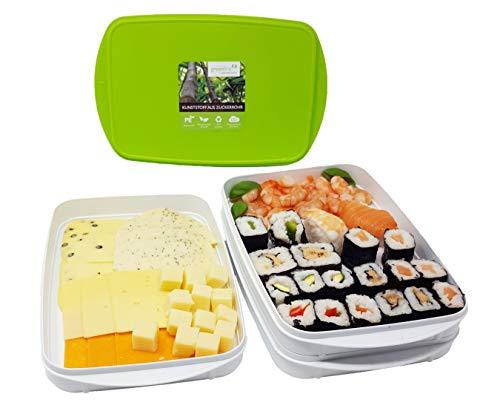 Greenline Frischhalte-Stapelbox Aufschnitt-Box Natürlicher Bio-Kunststoff aus...