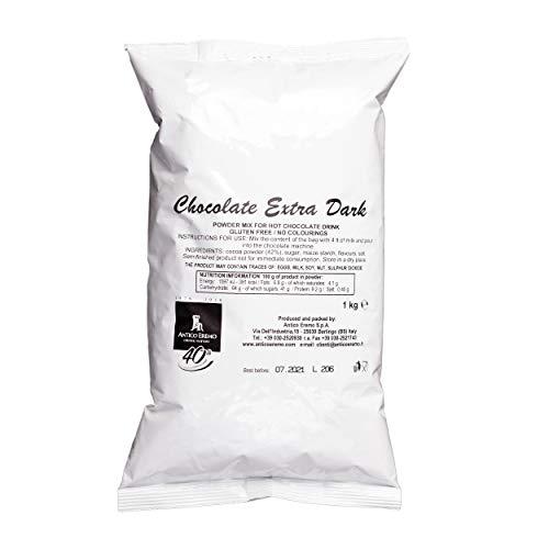 1 kg heiße Schokolade Extra Dark (42% Kakao) Pulvermischbeutel, italienische...