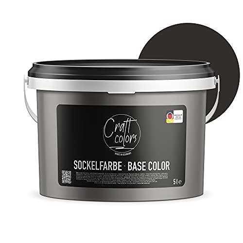 Sockelfarbe 5L Anthrazit | hochwertige Farbe für Beton, Mauerwerk, Kellerwand,...