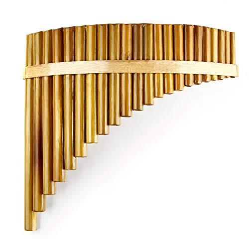 Flöte Neue C-taste Panflöte Rechtshänder 22 Pfeifen Musikinstrumente Braune...