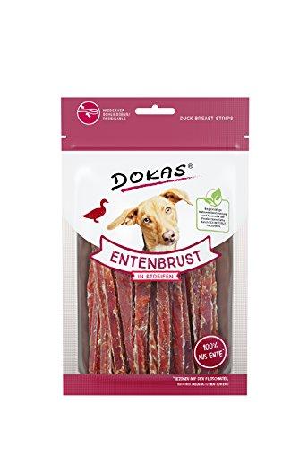 DOKAS Getreidefreier Premium Snack in Streifen für Hunde – Aus...