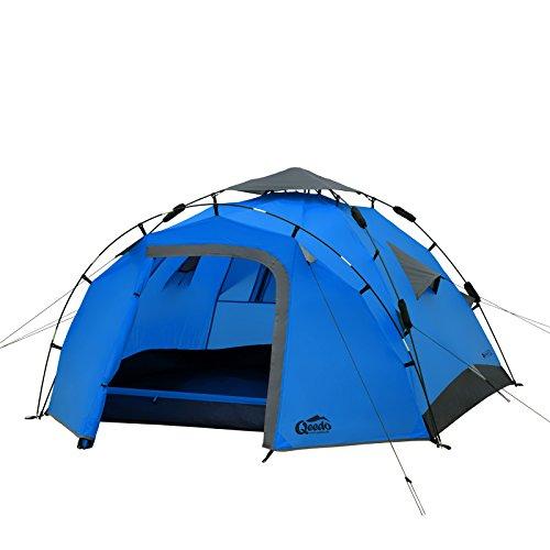 Qeedo Sekundenzelt Quick Pine 3, Campingzelt - blau