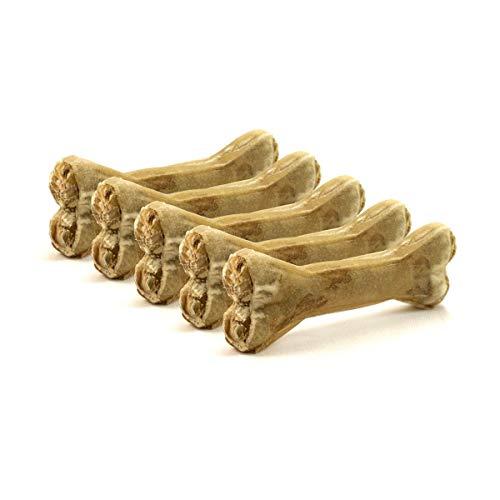 DOGBOSS 100% Natur Kauknochen Hundeknochen, Rinderhaut mit Hähnchen, 5 Stück...