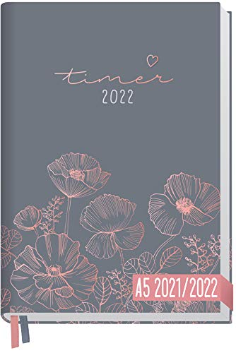 Chäff-Timer Classic A5 Kalender 2021/2022 [Poppy] Terminplaner, Terminkalender...