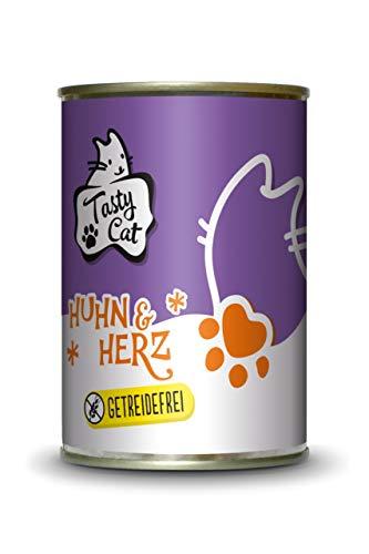 Tasty Cat Nassfutter für Katzen Huhn & Herz 400g. | getreidefrei | zuckerfrei