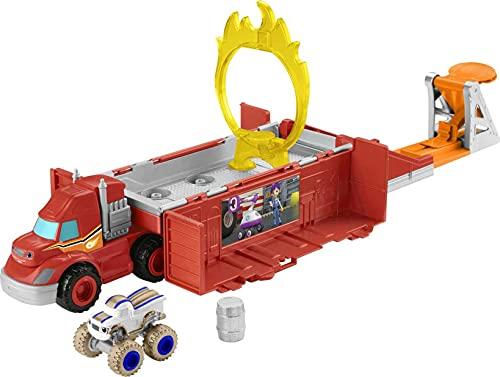 Fisher-Price GYD04 - Blaze und die Monstermaschinen Stunt-Transporter, Fahrzeug...