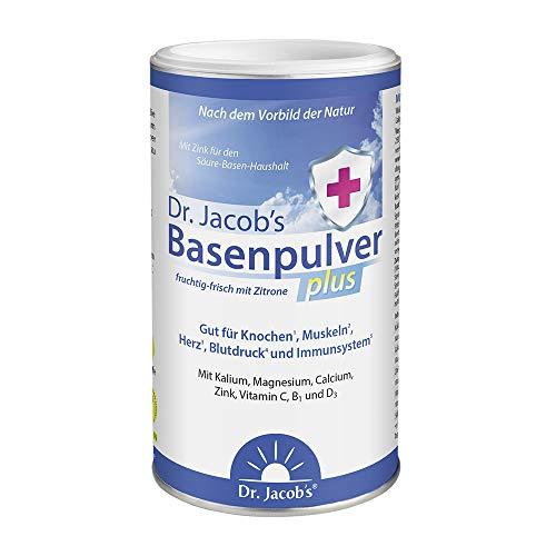 Dr Jacob's Basenpulver plus mit echter Zitrone I für mehr Energie, Muskeln,...