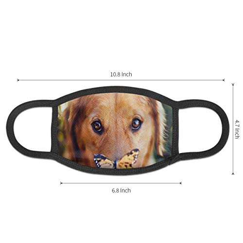 Yutess Hunde-Maulkorb in Schmetterlingsoptik, Staubmaske, mit elastischer...