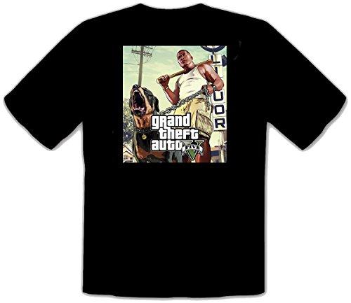 GTA V GTA 5 Grand Theft Auto 5 Rockstar Jogos Games - Schwarze Fun T-Shirt -130...
