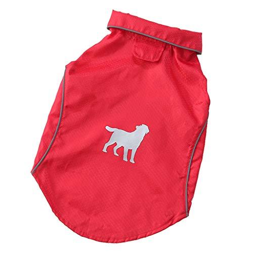 YueLove Hunderegenmantel Wasserdichter Hundemantel Regenjacke, mit Sicherheits...