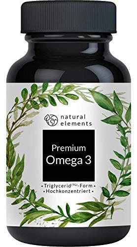 Premium Omega 3 Fischöl Kapseln - 3-fache Stärke: GoldenOmega® in...